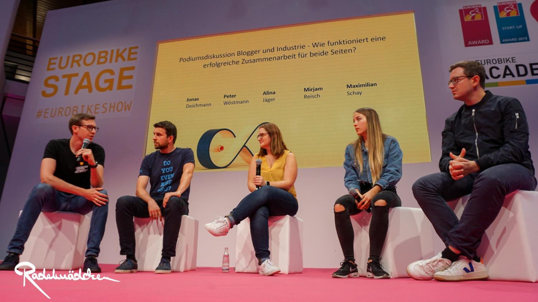 Blogger und Industrie Talk auf der Eurobike Bühne