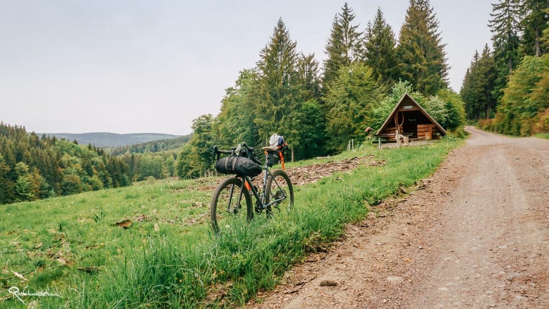 Fahrrad mit Hütte