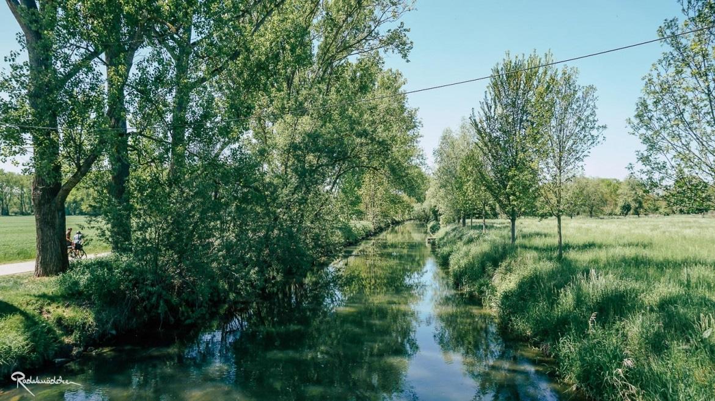 Fluss Unstrut im Grünen