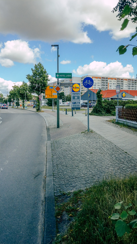 Radwegauffahrt Unfall Ort