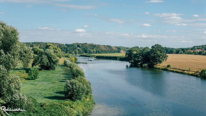 Blick auf den Fluss Mulde