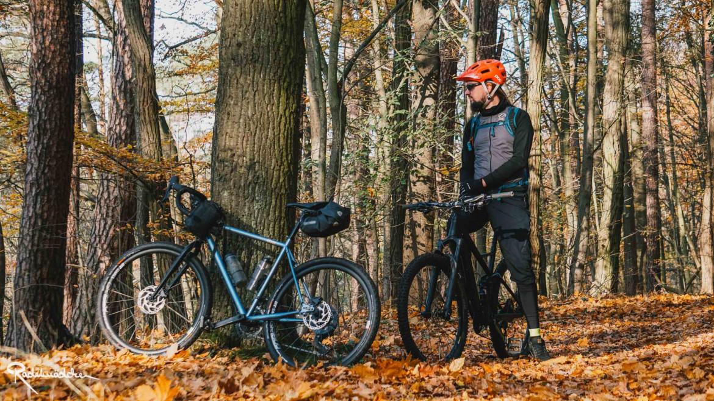 Herbstwald mit Rädern