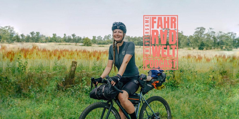 Die Wundersame Fahrradwelt titelbild mit Frau auf Gravelbikr